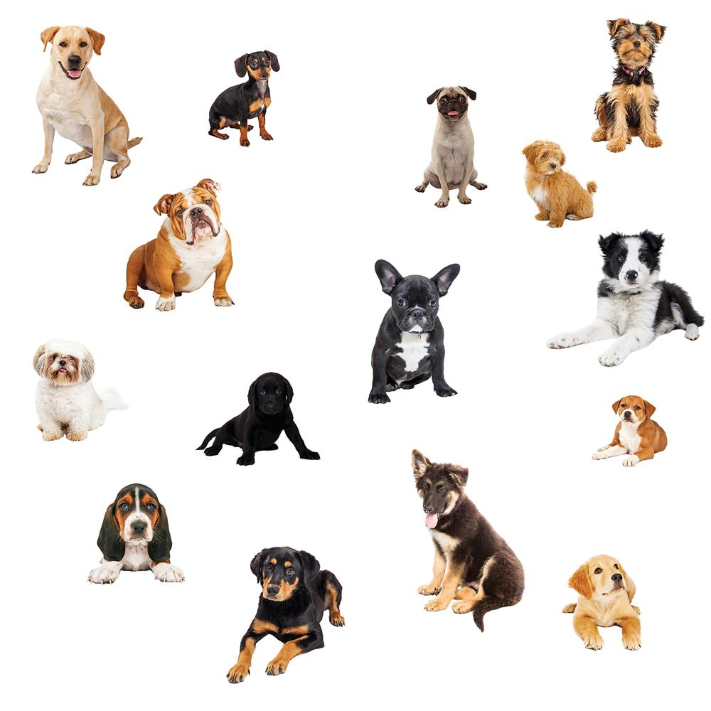 InHome by Brewster NH2559 Luv Puppies Wall Stickers