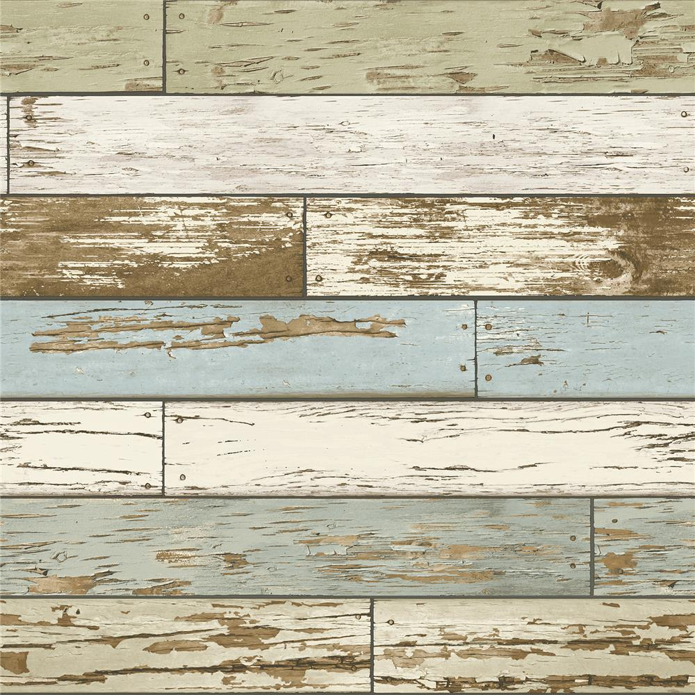 NuWallpaper by Brewster NU2188 Old Salem Vintage Wood Peel and Stick Wallpaper