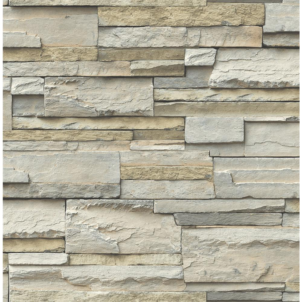 NuWallpaper by Brewster NU2675 Slate Peel & Stick Wallpaper