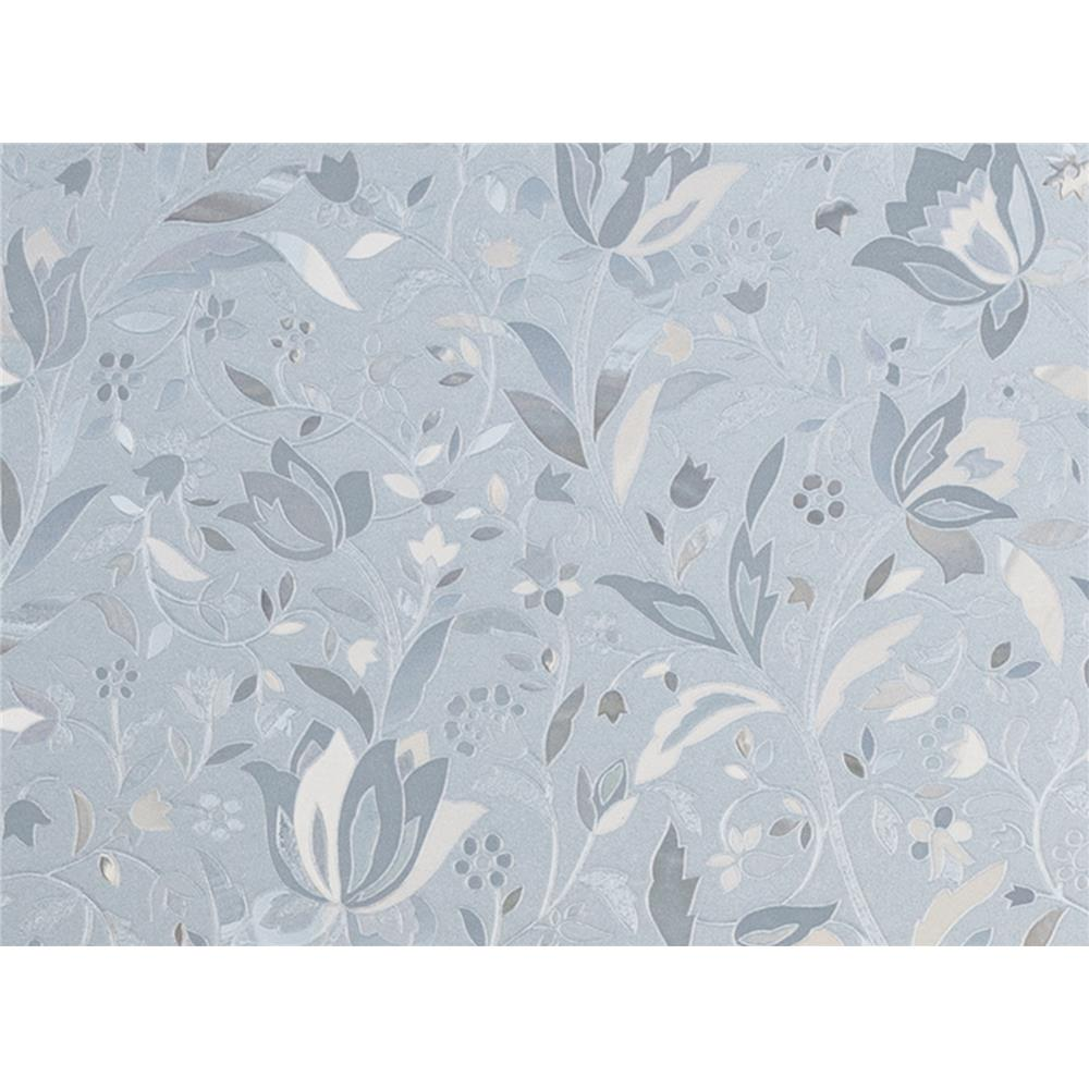 Brewster PF0697 Window Décor Cut Floral Window Premium Film