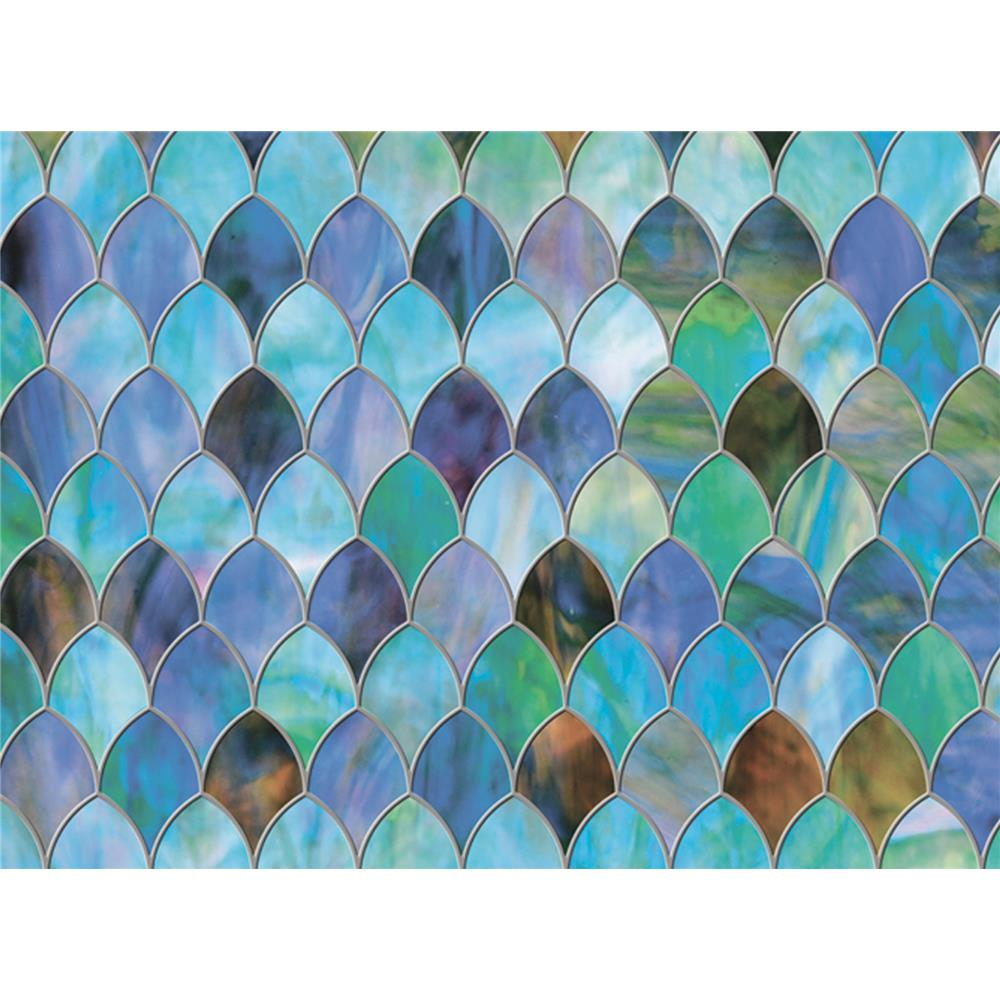 Brewster PF0702 Window Décor Peacock Window Premium Film