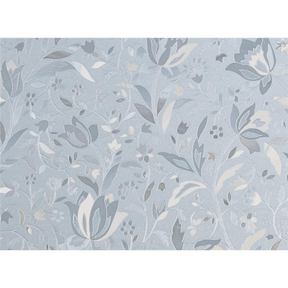 Brewster PF0713 Window Décor Cut Floral Door Premium Film