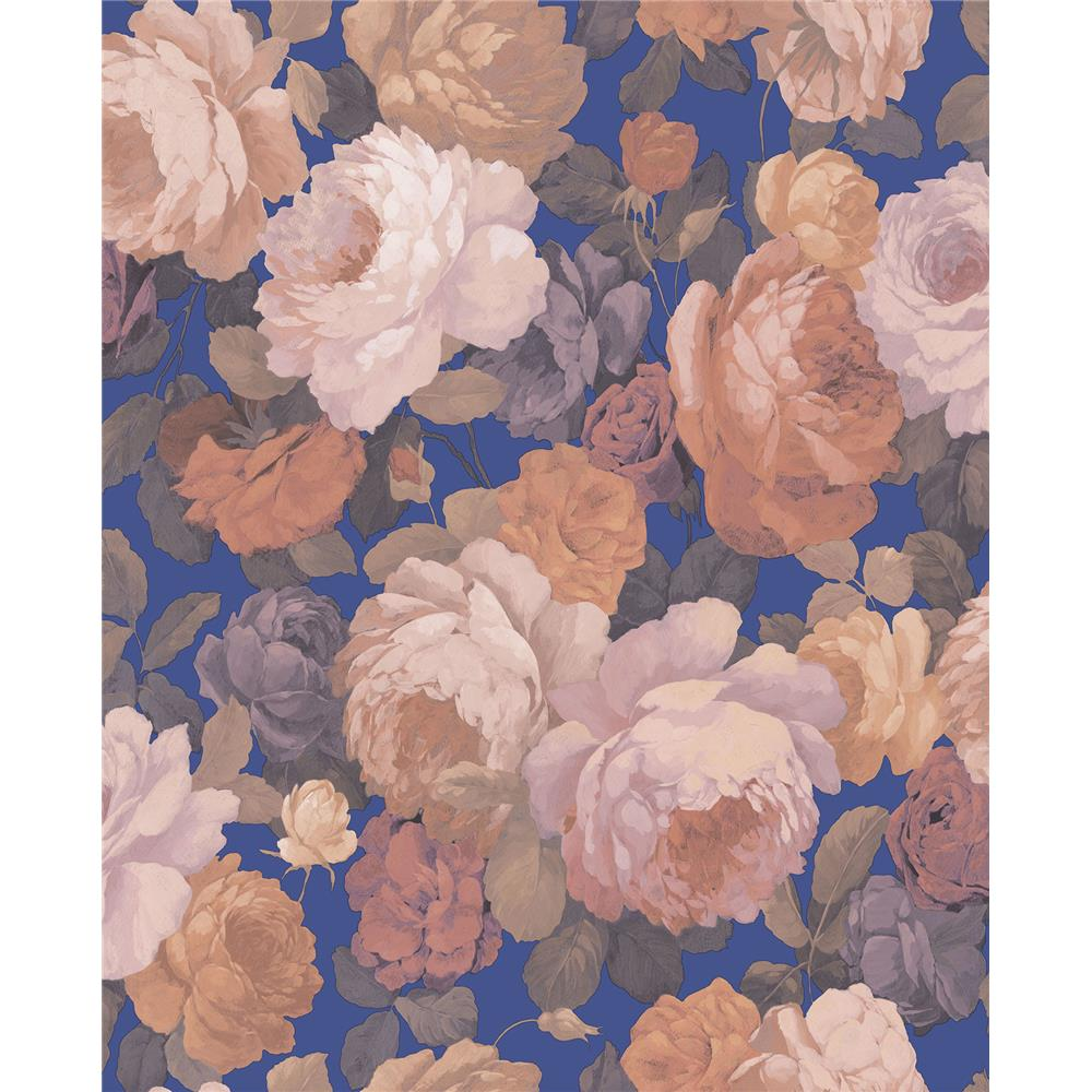 Sirpi by Brewster SR22843 Lady Pink Floral Wallpaper