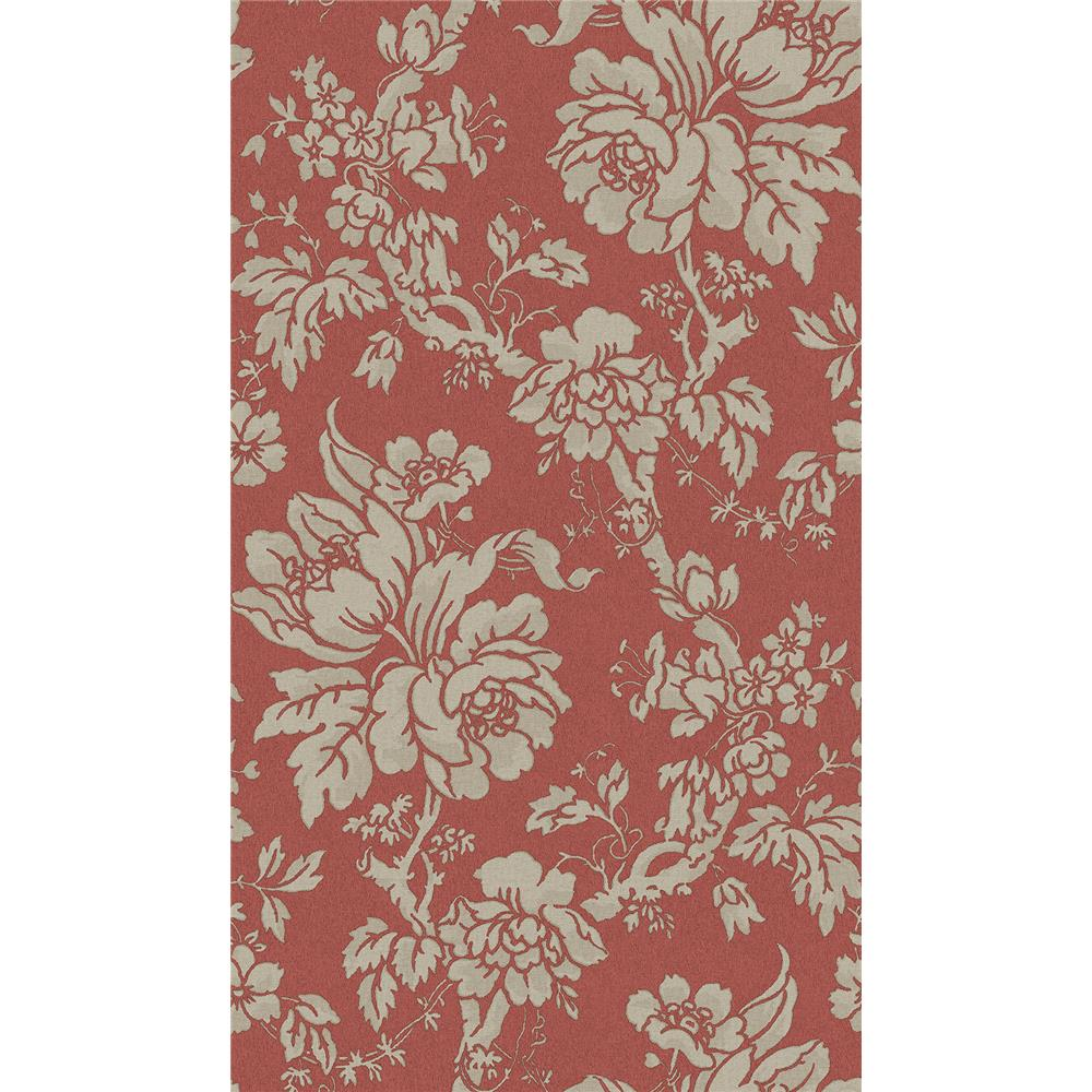 Sirpi by Brewster SR24105 Yara Red Floral Wallpaper