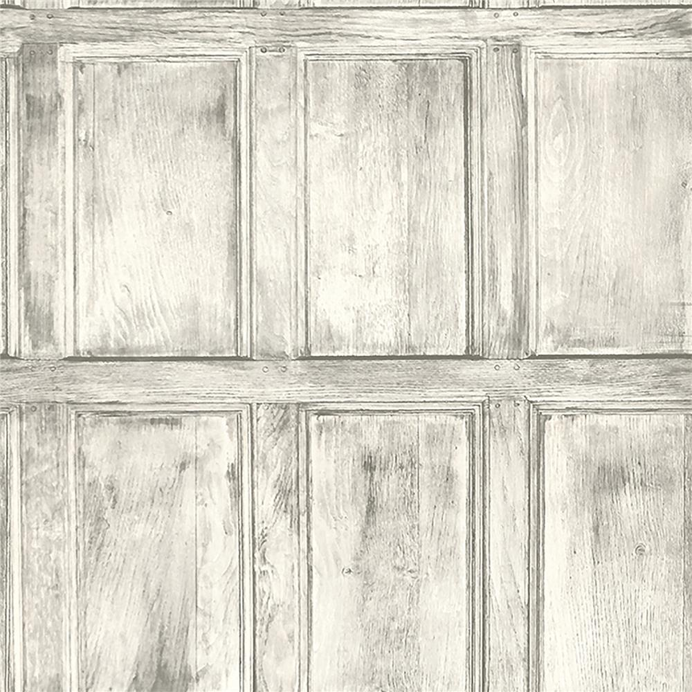 Brewster WP0090503 Common Room White Wainscoting Wallpaper