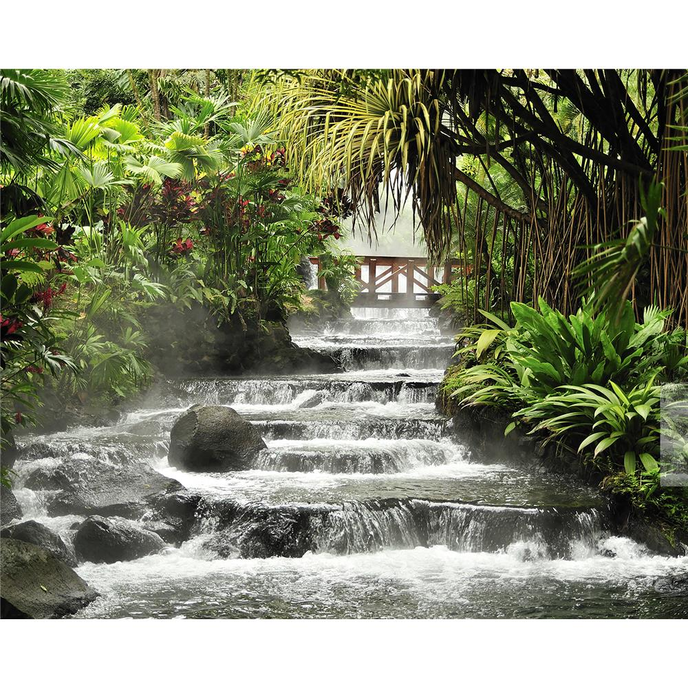 Wall Rogues by Brewster WR50515 Tranquil Waterfall Wall Mural