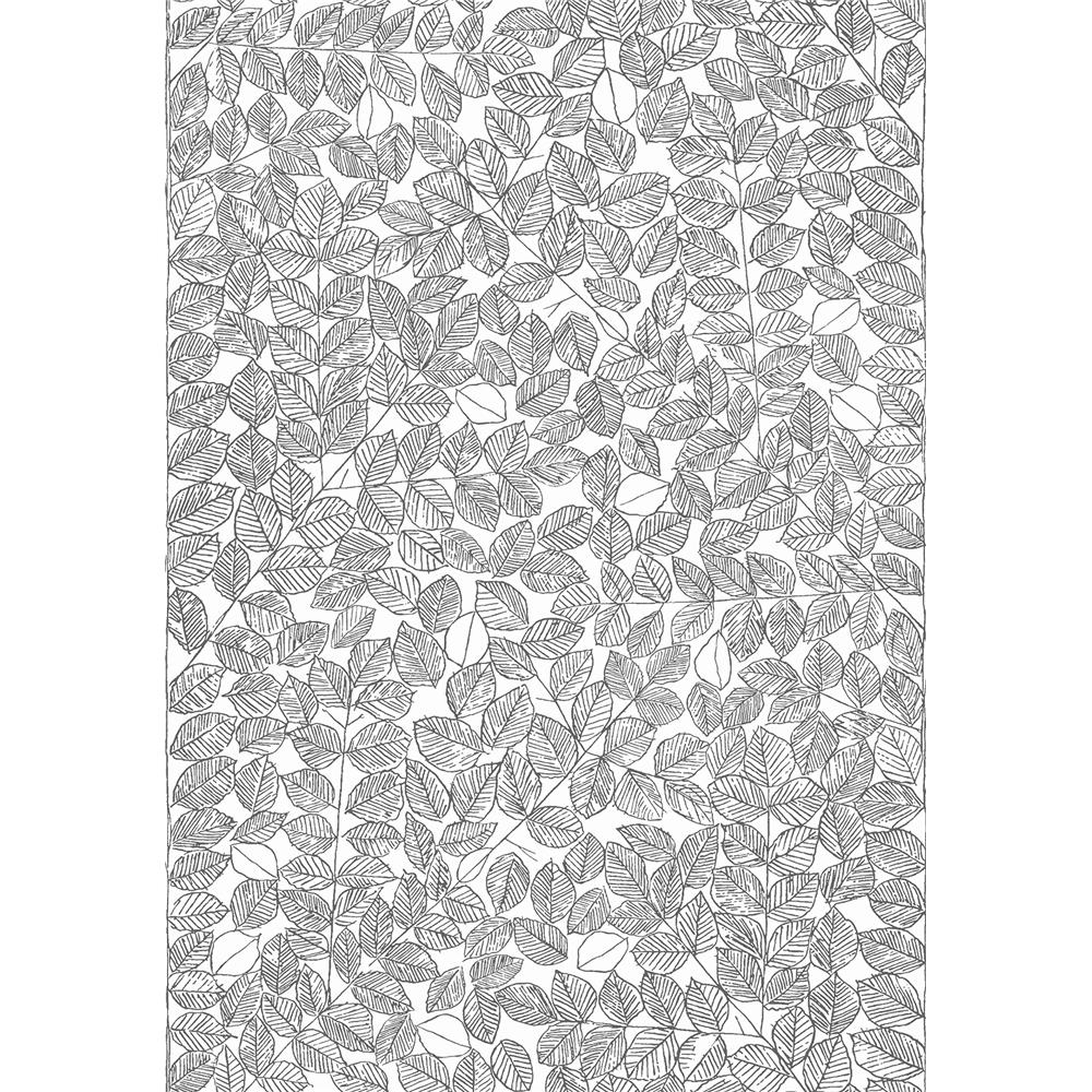 Wall Vision by Brewster WV1766 Romans Black Leaf Wallpaper