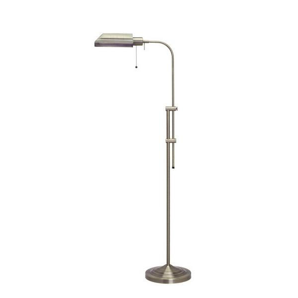 CAL Lighting BO-117FL-AB 100W Pharmacy Floor Lamp W/Adjustable Pole in Antique Brass