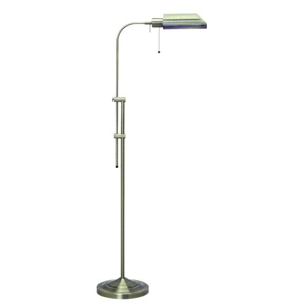 CAL Lighting BO-117FL-BS 100W Pharmacy Floor Lamp W/Adjustable Pole in Brushed Steel