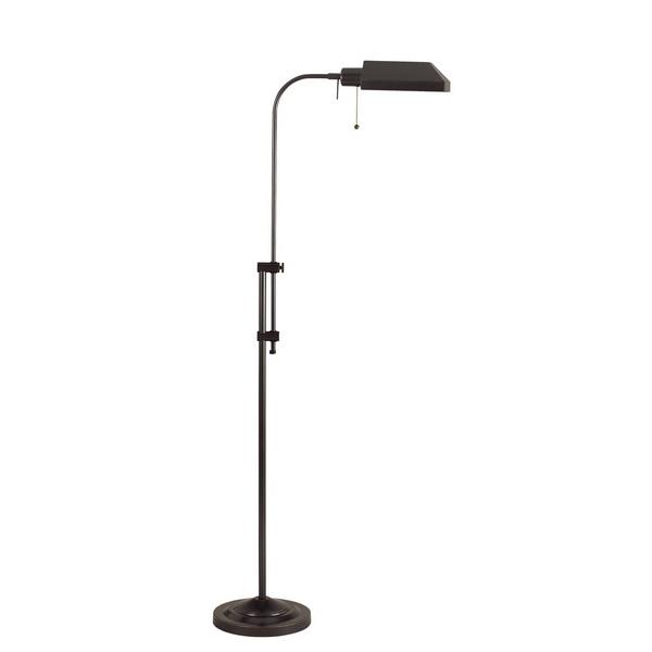 CAL Lighting BO-117FL-DB 100W Pharmacy Floor Lamp W/Adjustable Pole in Dark Bronze