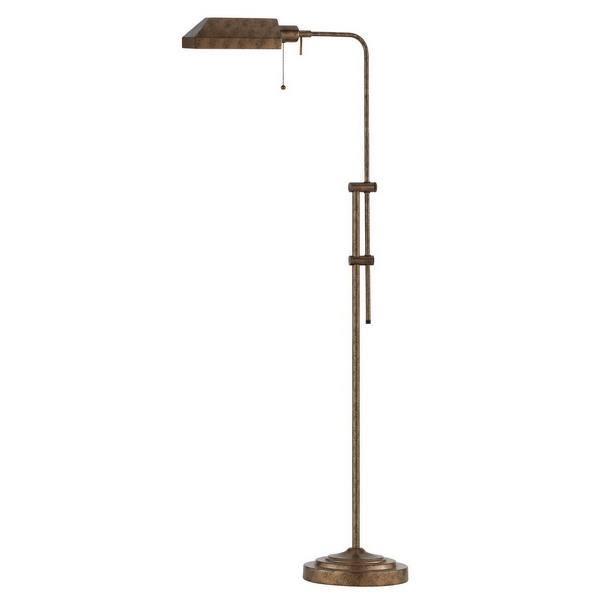 CAL Lighting BO-117FL-RU 100W Pharmacy Floor Lamp W/Adjustable Pole in Rust