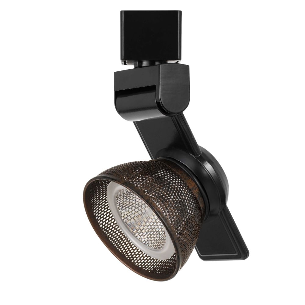 CAL Lighting HT-999BK-MESHRU 12w Dimmable Integrated Led Track Fixture, 750 Lumen, 90 Cri