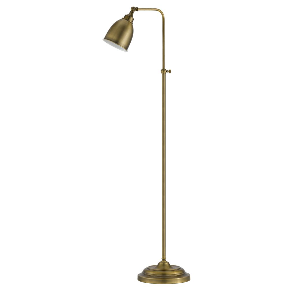 Cal Lighting BO-2032FL-AB Antique Brass Pharmacy 1 Light Pedestal Base Floor Lamp