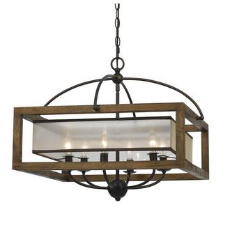 Cal Lighting FX-3536/6 60W X 6 Square Chandelier