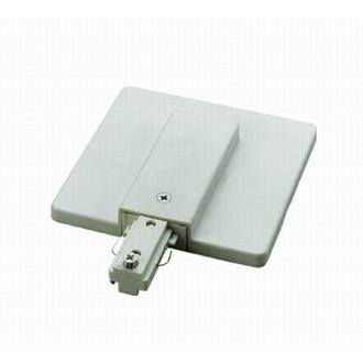 Cal Lighting HT-300-WH Frosted White Live End with Junction Box Cover for HT Track Systems
