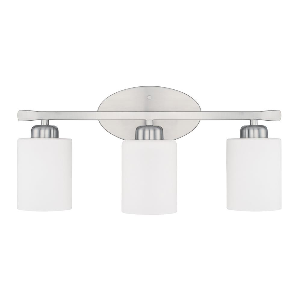 Homeplace by Capital Lighting 115231BN-338 115231BN-338 3 Light Vanity in Brushed Nickel