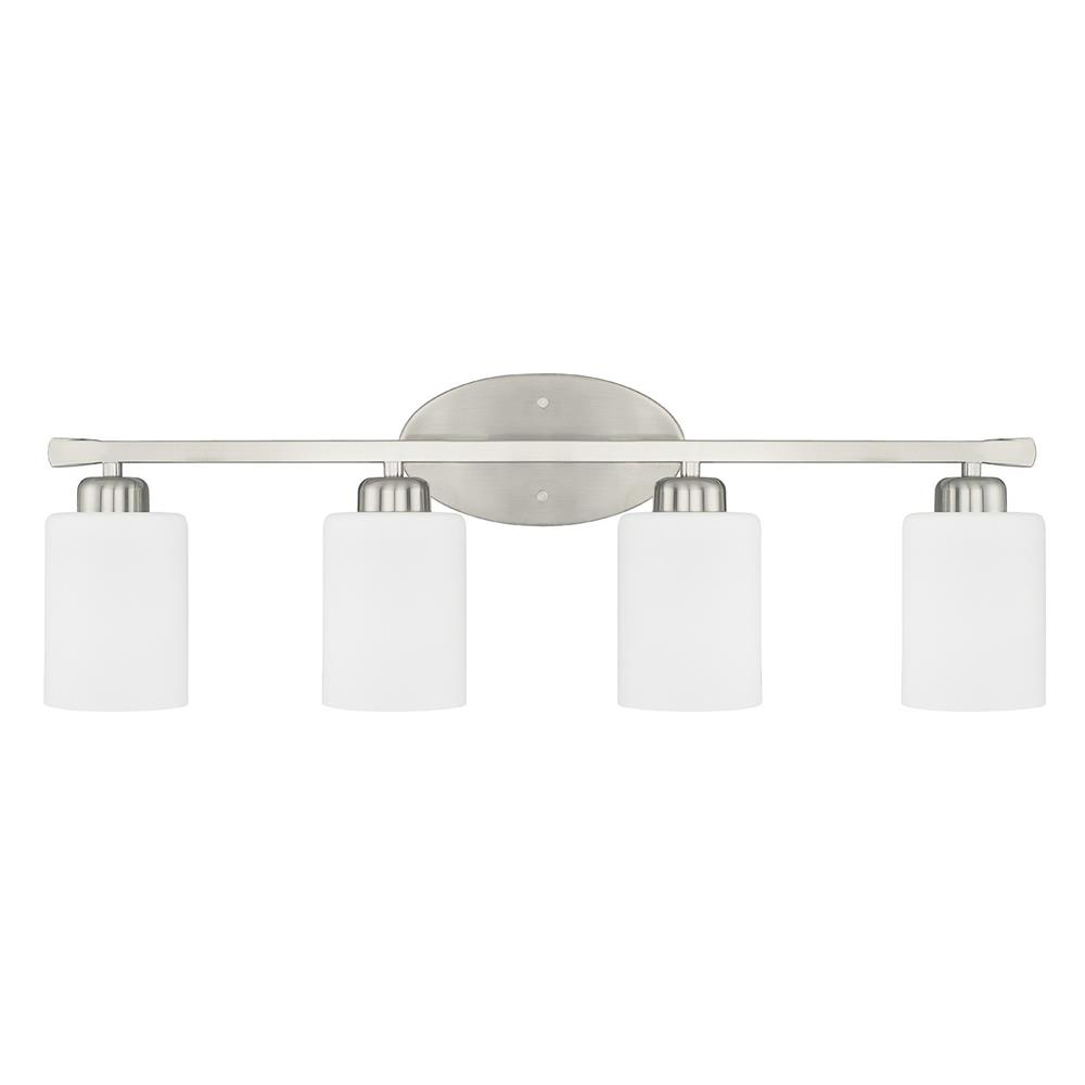 Homeplace by Capital Lighting 115241BN-338 115241BN-338 4 Light Vanity in Brushed Nickel
