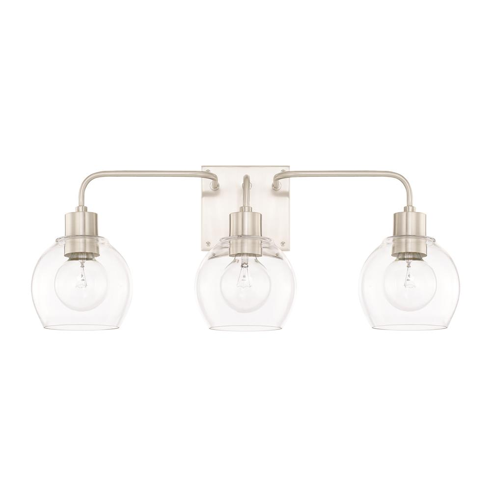 Capital Lighting 120031BN-426 HomePlace 3 Light Vanity in Brushed Nickel