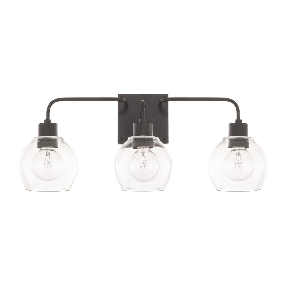 Capital Lighting 120031MB-426 HomePlace 3 Light Vanity in Matte Black