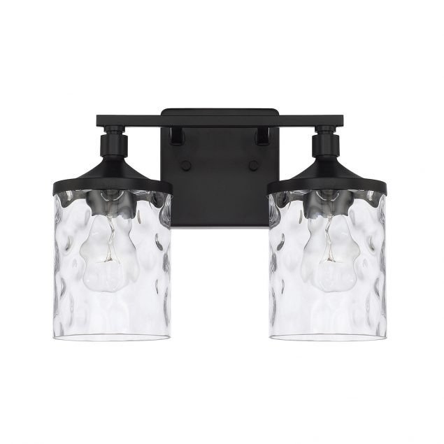 Homeplace by Capital Lighting 128821MB-451 2 Light Vanity Fixture in Matte Black