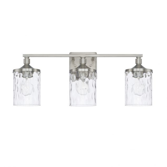 Homeplace by Capital Lighting 128831BN-451 3 Light Vanity Fixture in Brushed Nickel