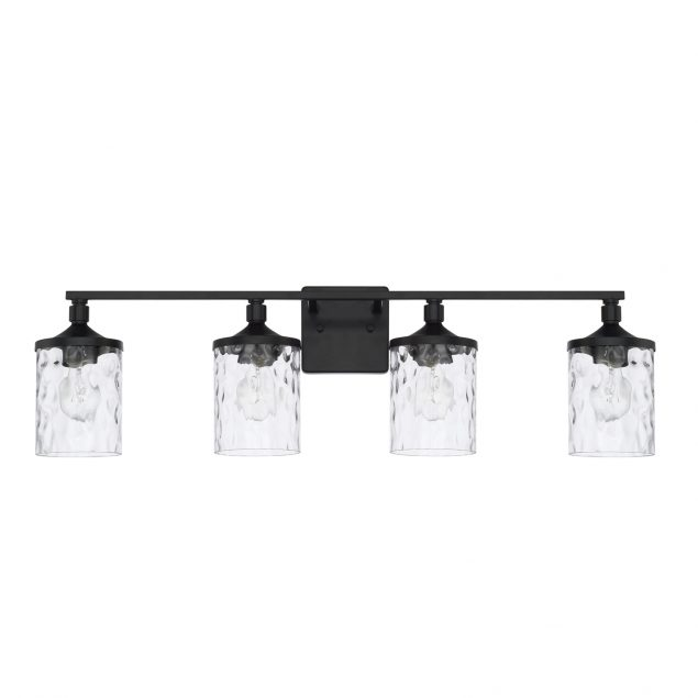 Homeplace by Capital Lighting 128841MB-451 4 Light Vanity Fixture in Matte Black