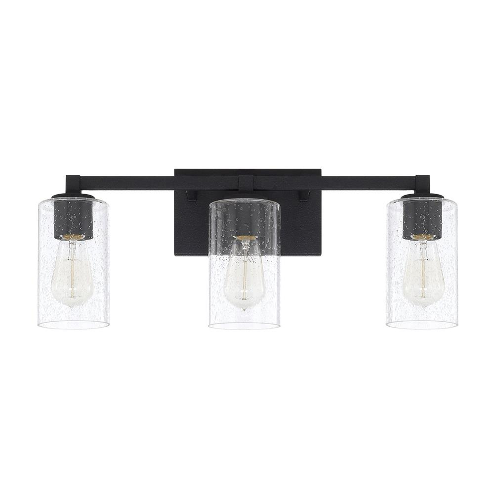 Capital Lighting 119831BI-435 Ravenwood 3 Light Vanity in Black Iron