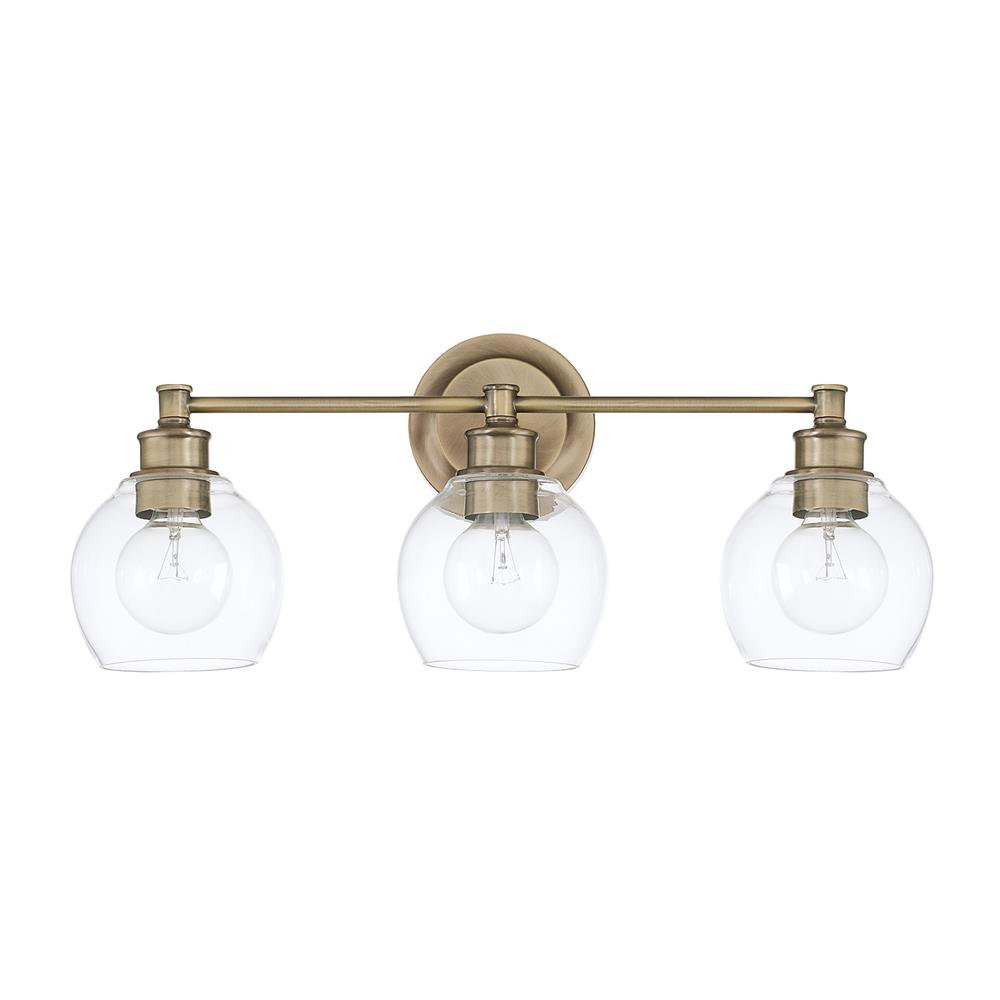 Capital Lighting 121131PN-426 Mid Century 3 Light Vanity in Polished Nickel