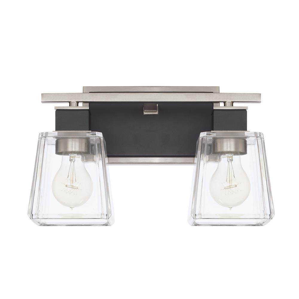 Capital Lighting 125221BT-445 Tux 2 Light Vanity Fixture in Black Tie