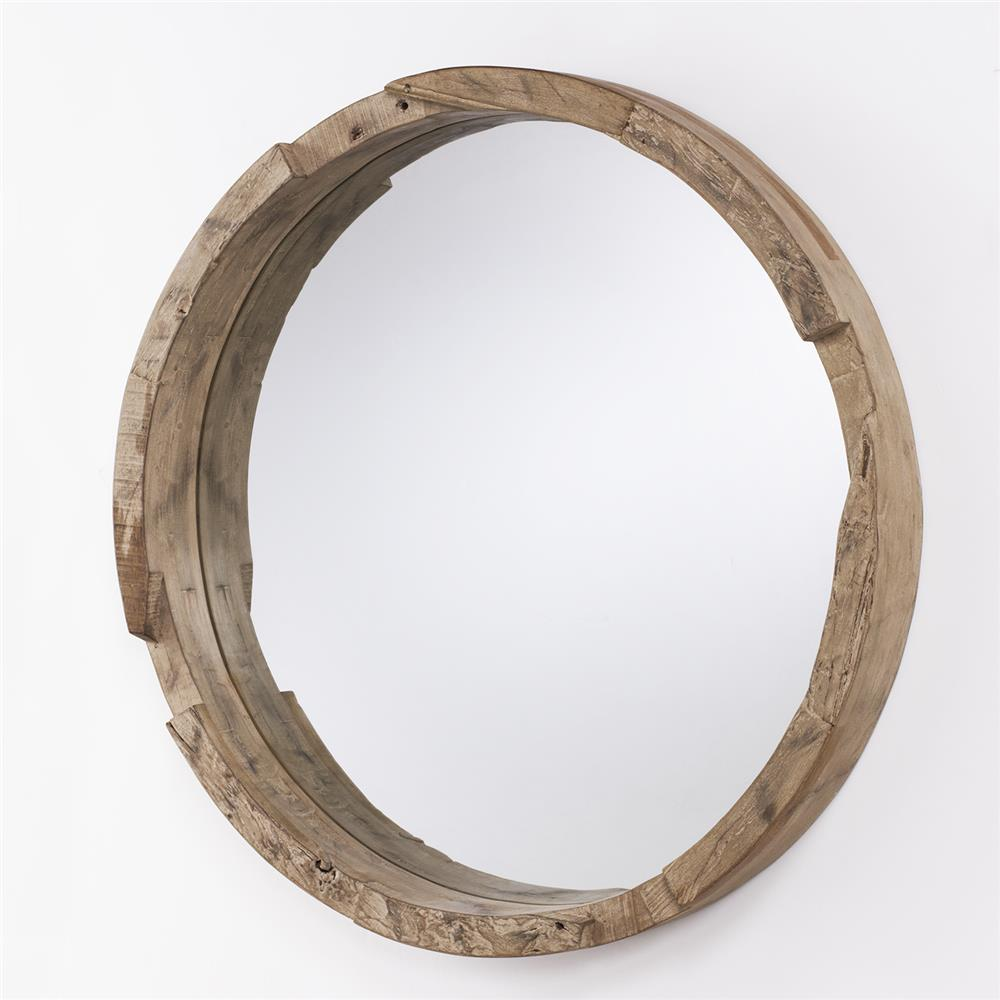Capital Lighting 723501MM Mirrors Round Wood Mirror in Natural Wood