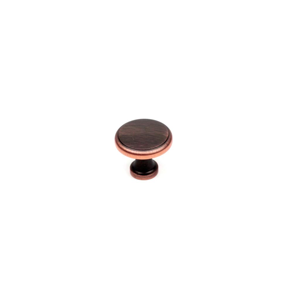 "Century Hardware 05027-OBH 1-3/8"" Round Knob In Oil Rubbed Bronze With Copper Highlights"