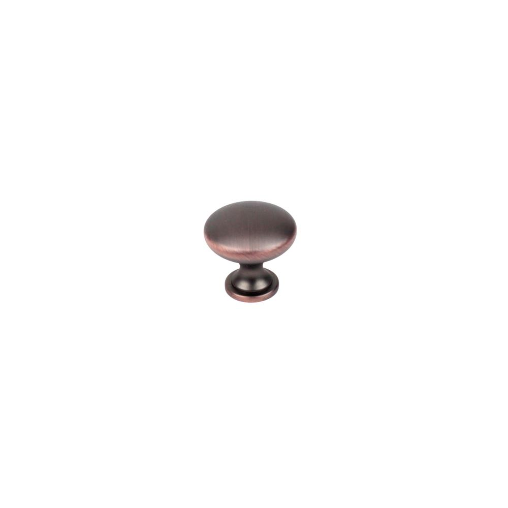 "Century Hardware 05122-OBH 1-1//4"" Round Knob In Oil Rubbed Bronze With Copper Highlights"