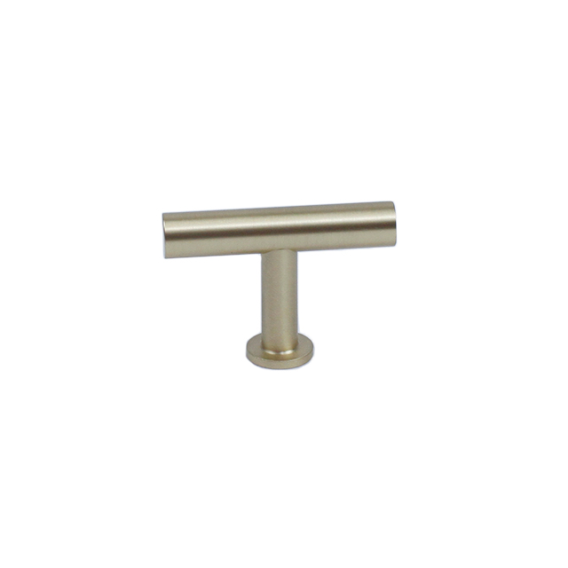 Century Hardware 10429-4 Modern Geo 10mm Dia Solid Brass T-Knob, Satin Brass