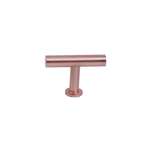 Century Hardware 10429-SRG Modern Geo 10mm Dia Solid Brass T-Knob, Satin Rose Gold