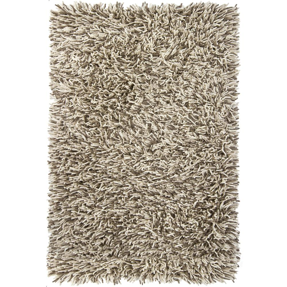 Chandra Rugs BIG20803 BIG JOS Hand-Woven Contemporary Shag Rug in Silver, 5