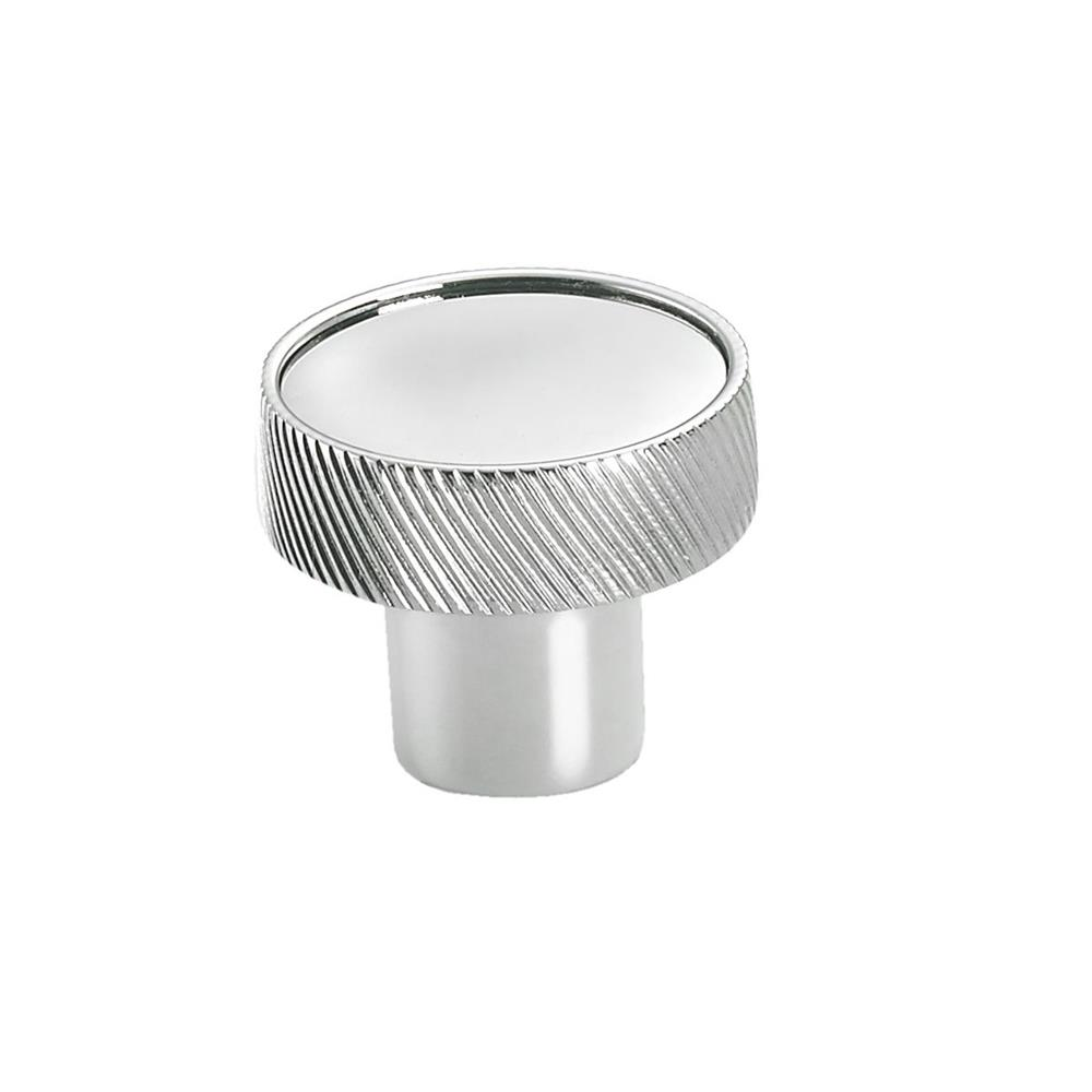 "Colonial Bronze 591-10BU 1 1/4"" Round Single Knurl-edged Knob in Oil Rubbed Bronze Unlacquered"