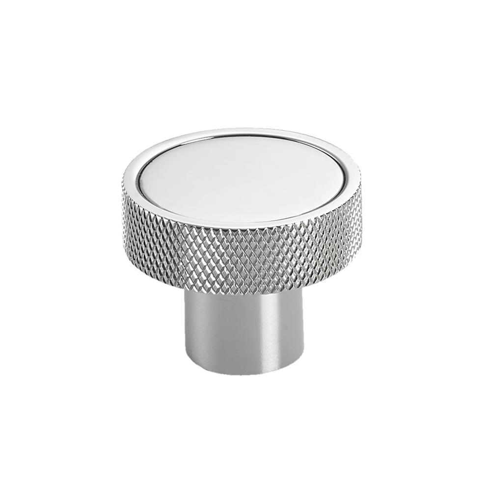"Colonial Bronze 595-10BU 1/14"" Round Diamond Knurl-edged Knob in Oil Rubbed Bronze Unlacquered"