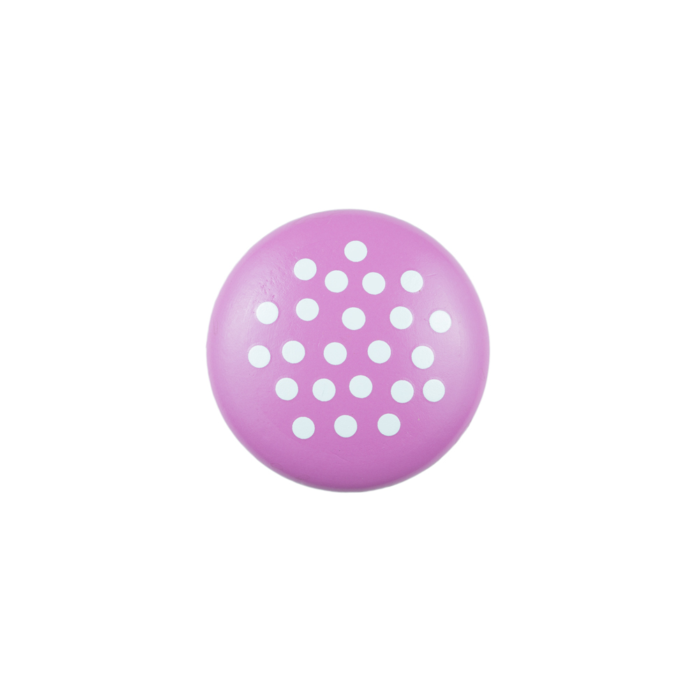 Continental Hardware RL061169 Sumner Street Home Hardware Pink Knob with White Dots