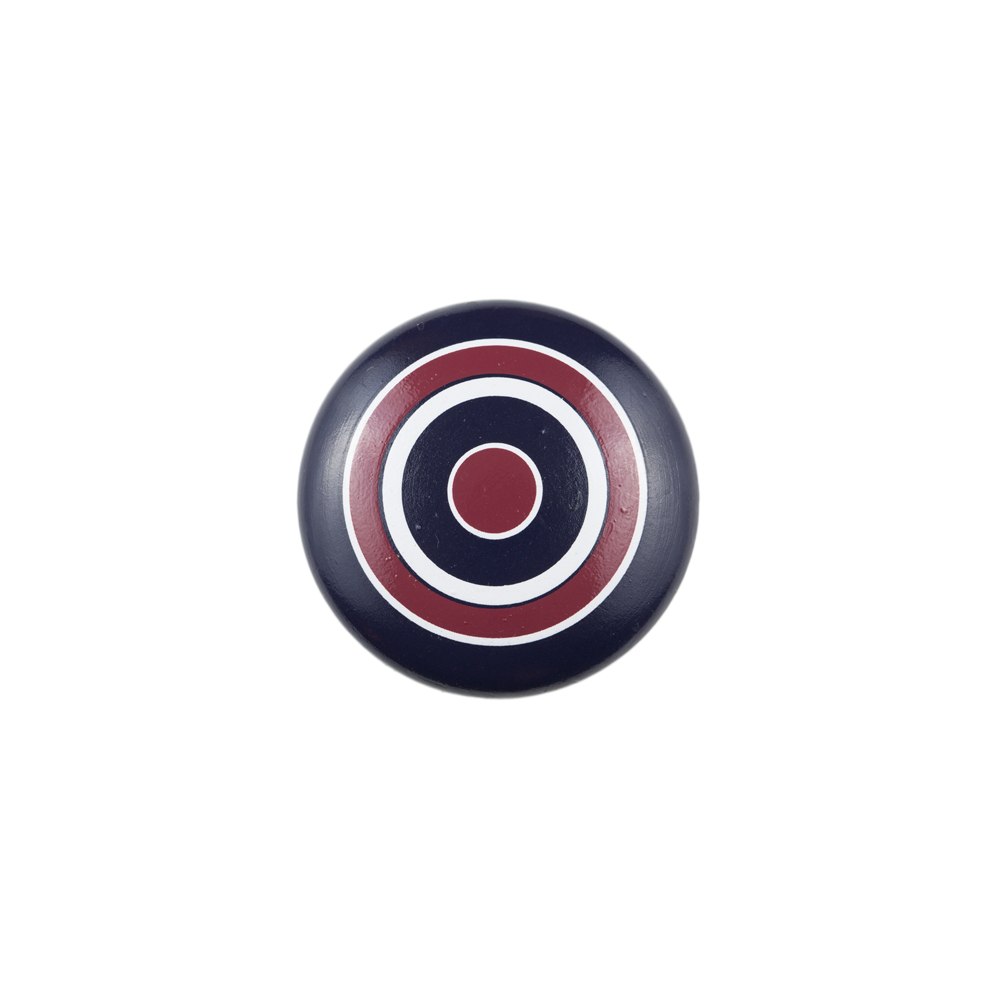 Continental Hardware RL061183 Sumner Street Home Hardware Blue Knob with Red White and Blue Circle