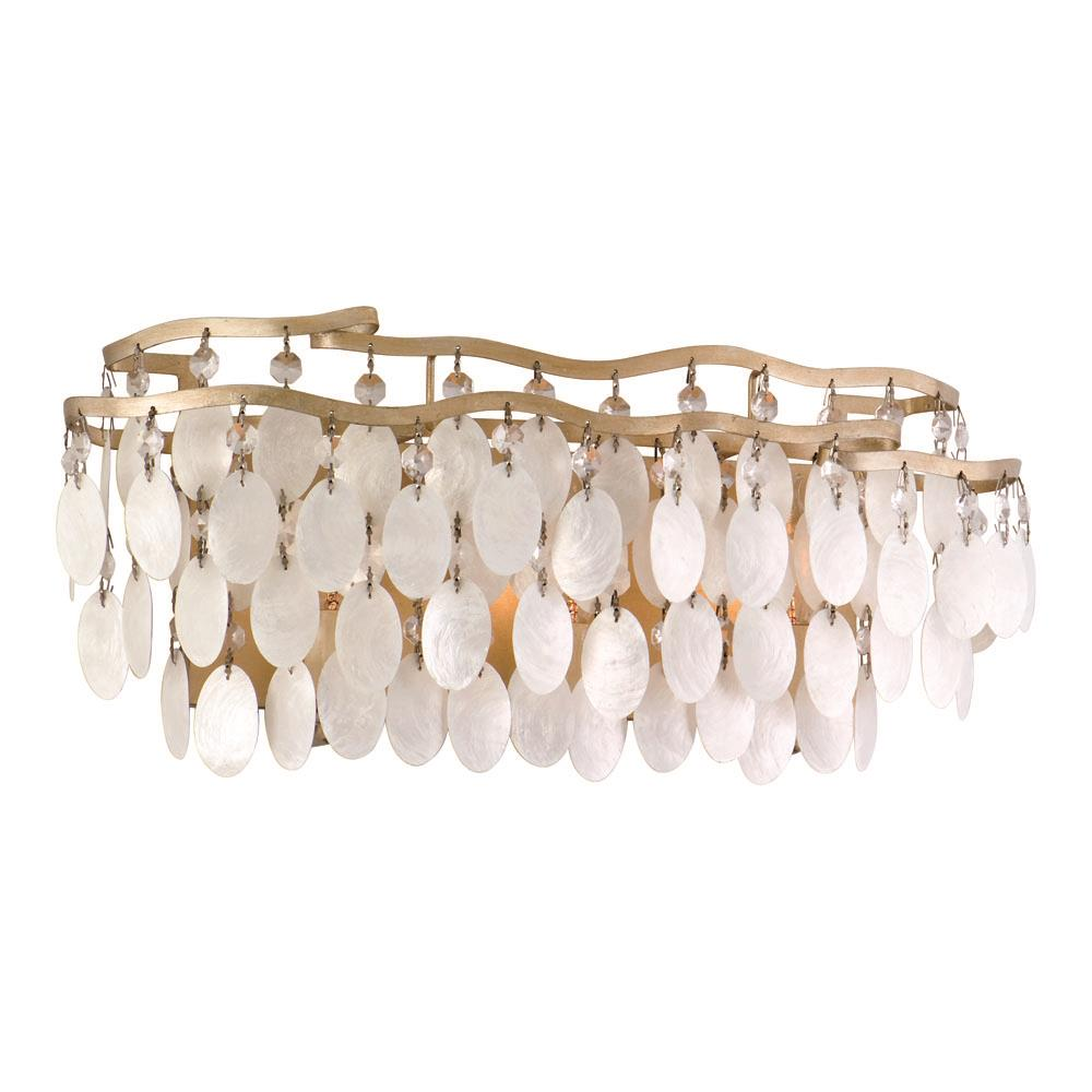 Corbett Lighting 109-63 Dolce 3 Light Bath in Champagne Leaf