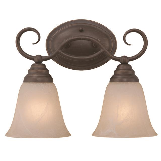 Craftmade 25002-OLB Cordova 2 Light Vanity in Old Bronze