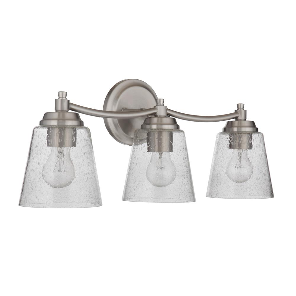 Craftmade 50203-BNK Tyler 3 Light Vanity in Brushed Polished Nickel