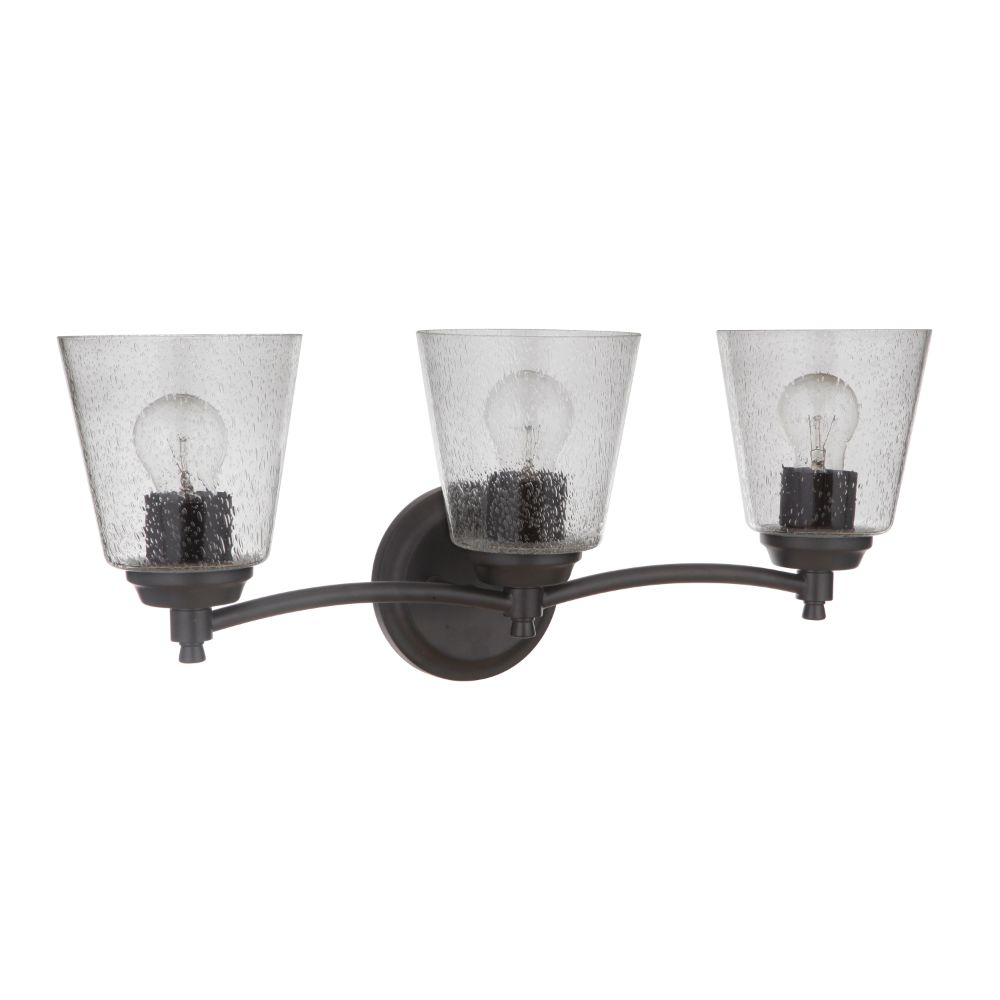 Craftmade 50203-FB Tyler 3 Light Vanity in Flat Black