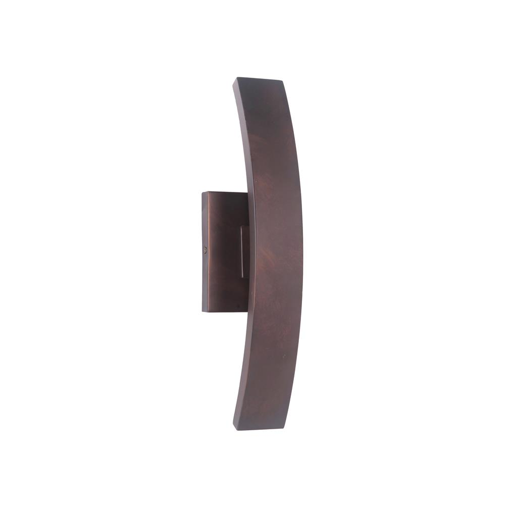Craftmade Z1900-AC-LED Arcus Small LED Wall Mount in Aged Copper
