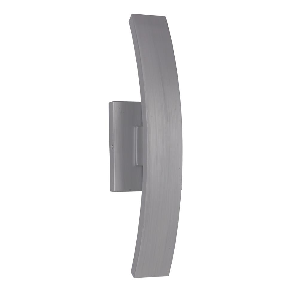 Craftmade Z1910-BAO-LED Arcus Medium LED Wall Mount in Brushed Aluminum Outdoor