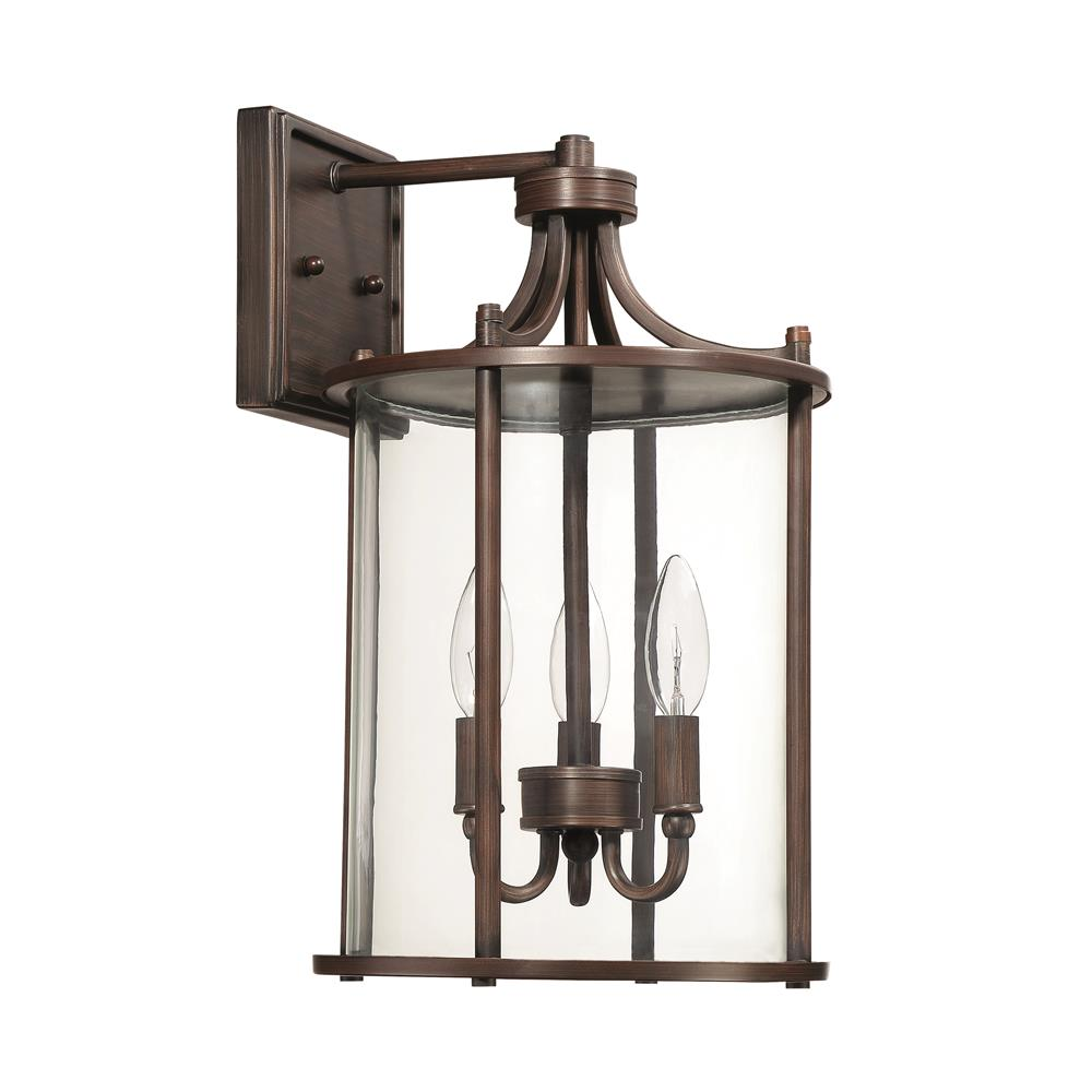 Craftmade Z2824-ABZ Carlton Large Wall Mount in Aged Bronze Brushed