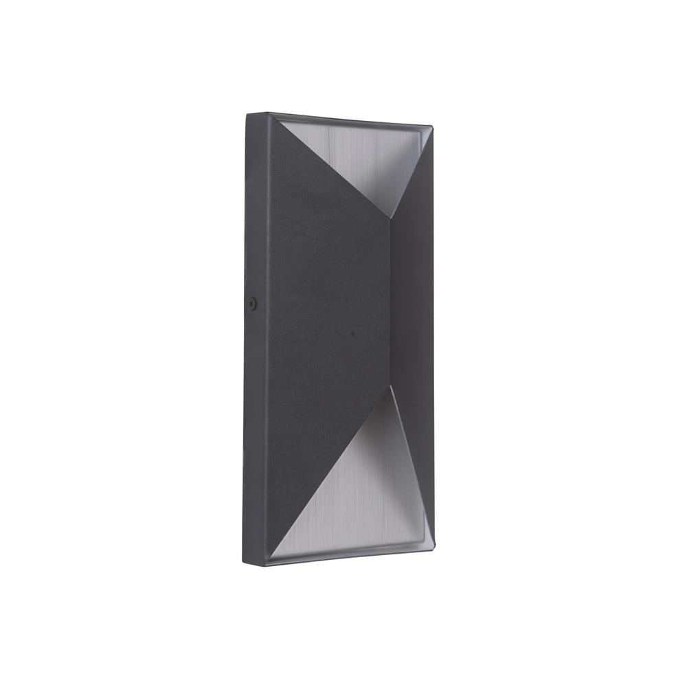 Craftmade Z3402-TBBA-LED Peak Small LED Pocket Sconce in Textured Matte Black/Brushed Aluminum
