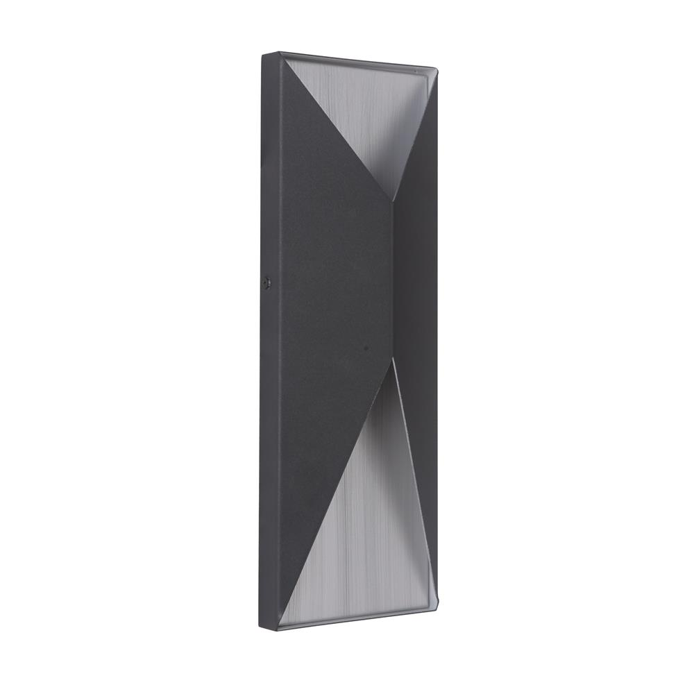 Craftmade Z3412-TBBA-LED Peak Medium LED Pocket Sconce in Textured Matte Black/Brushed Aluminum
