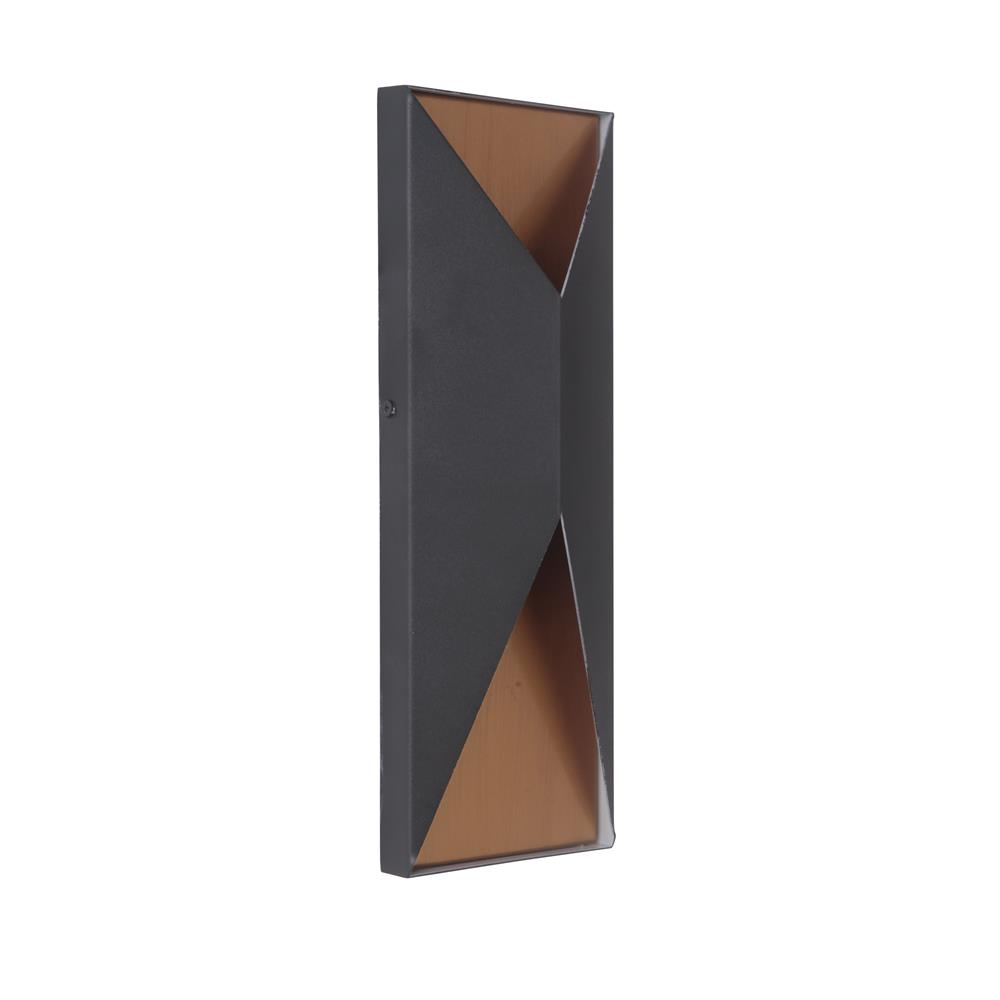 Craftmade Z3412-TBSB-LED Peak Medium LED Pocket Sconce in Textured Matte Black/Satin Brass
