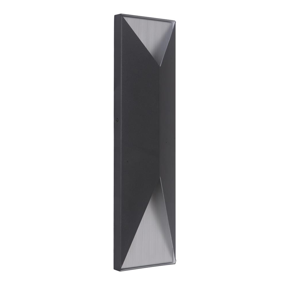 Craftmade Z3422-TBBA-LED Peak Large LED Pocket Sconce in Textured Matte Black/Brushed Aluminum